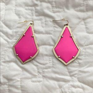 Bright Pink Kendra Scott earrings